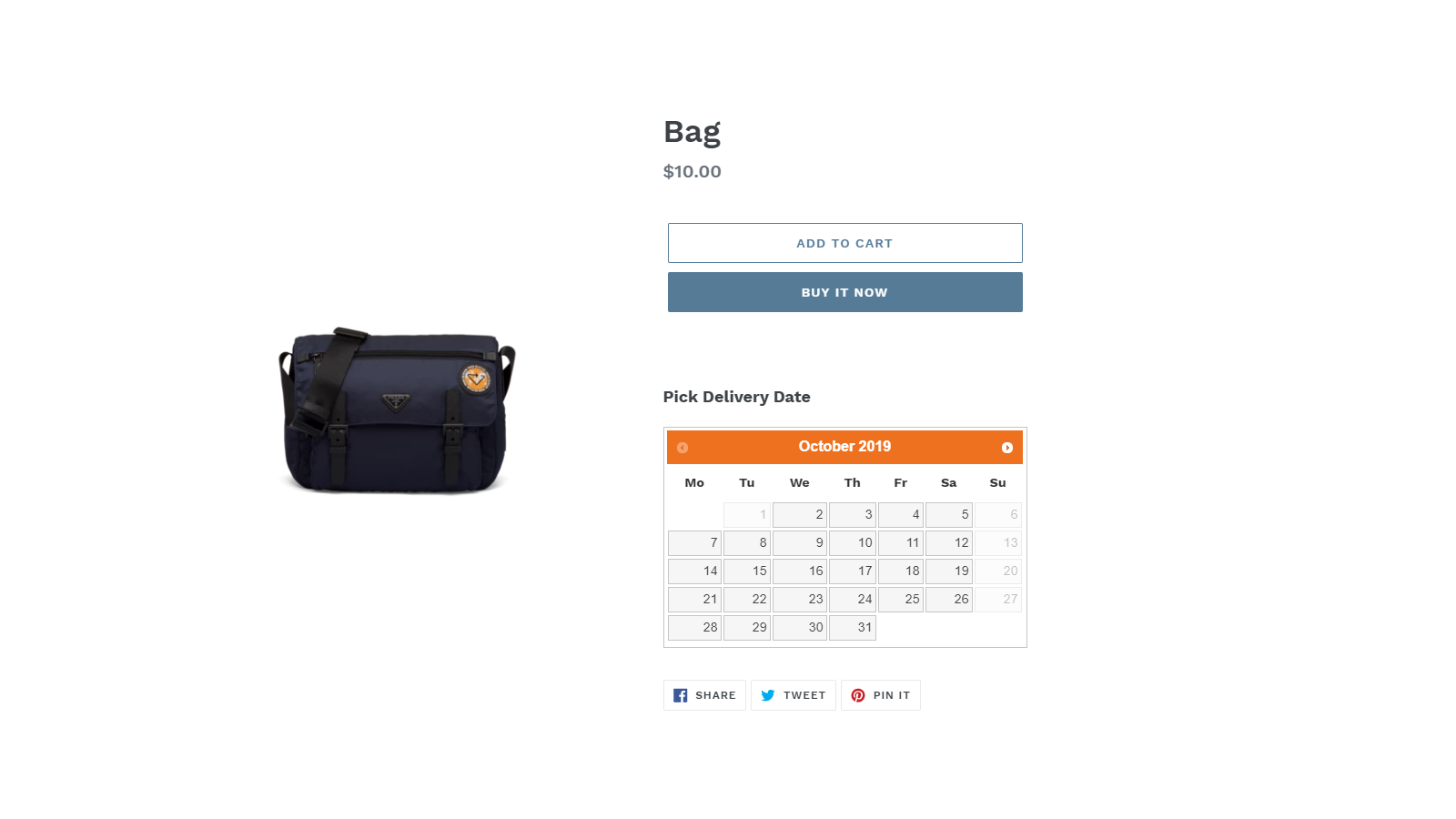 Widget on product page