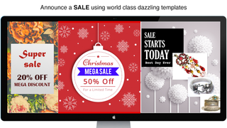 Announce Sale using World class templates