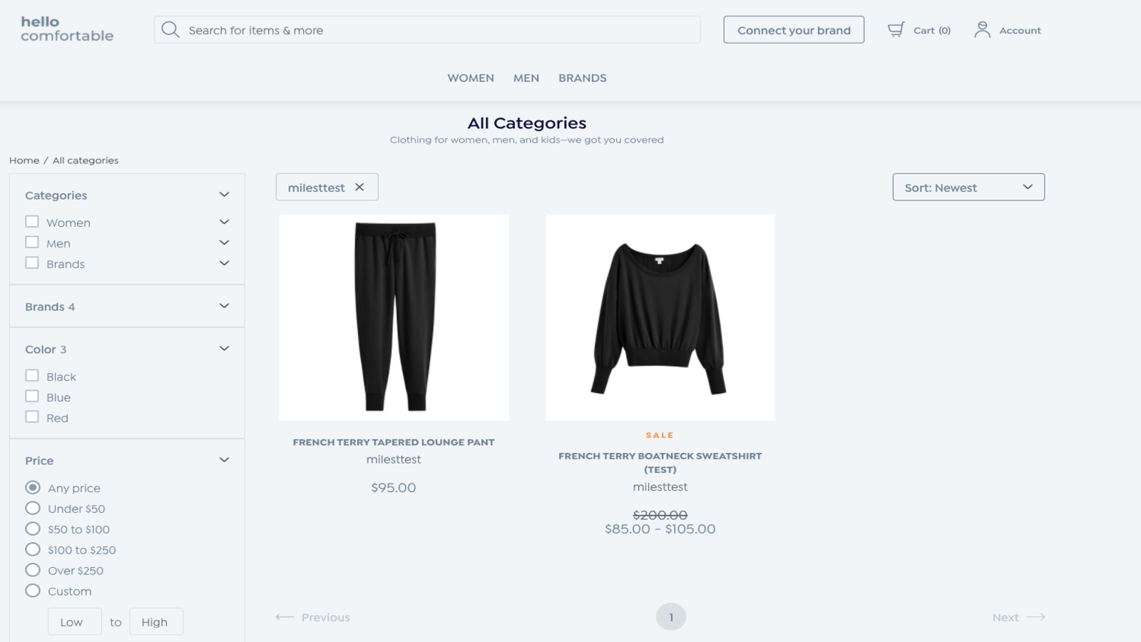 HelloComfortable product listing