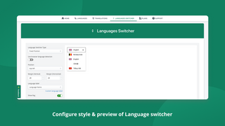 Configure style & preview of Language switcher