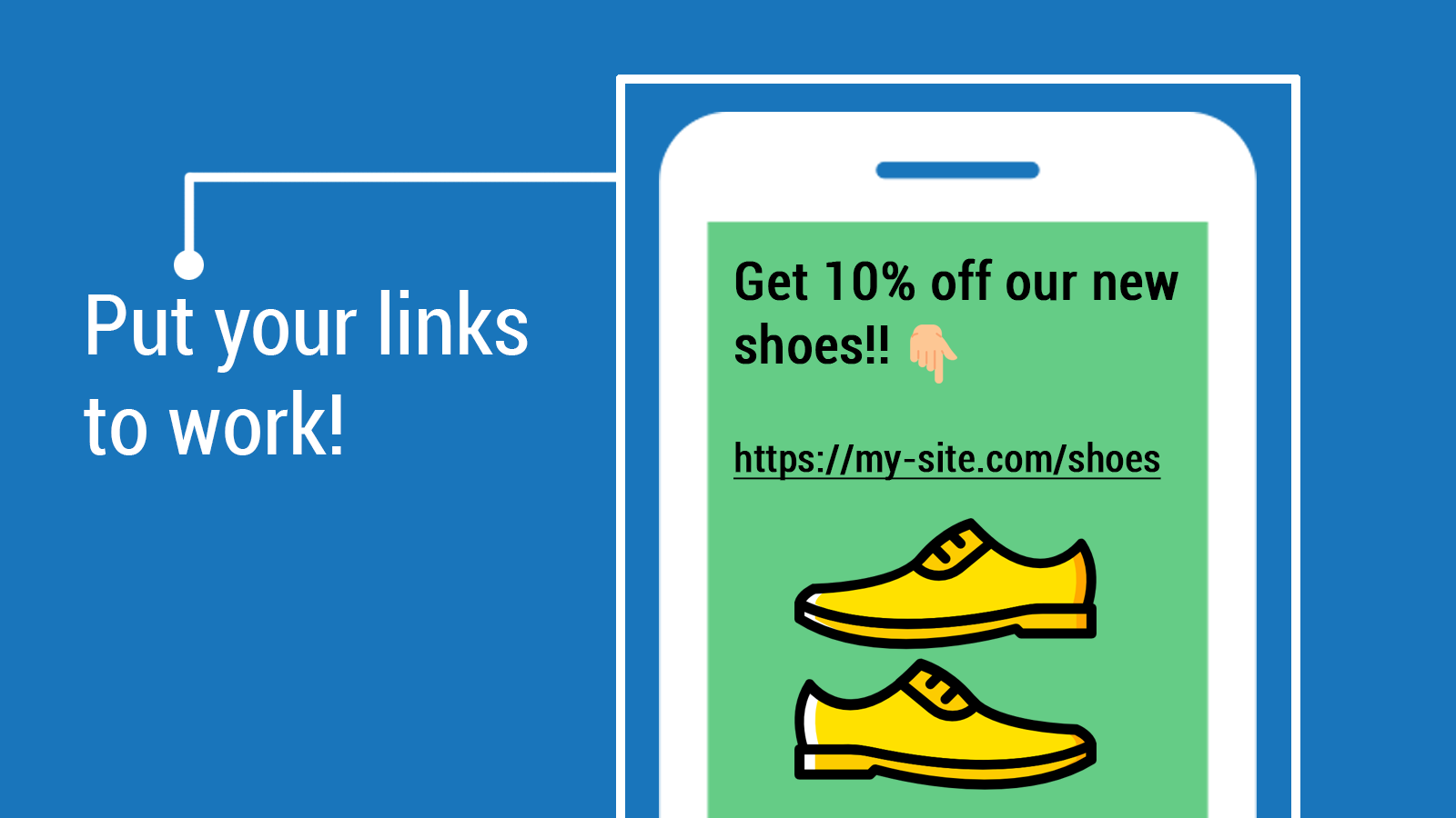 Use your links for marketing campaigns
