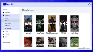 TeamUp's browse by license allows you to narrow your search.