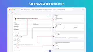 Setup an Auction for a Product
