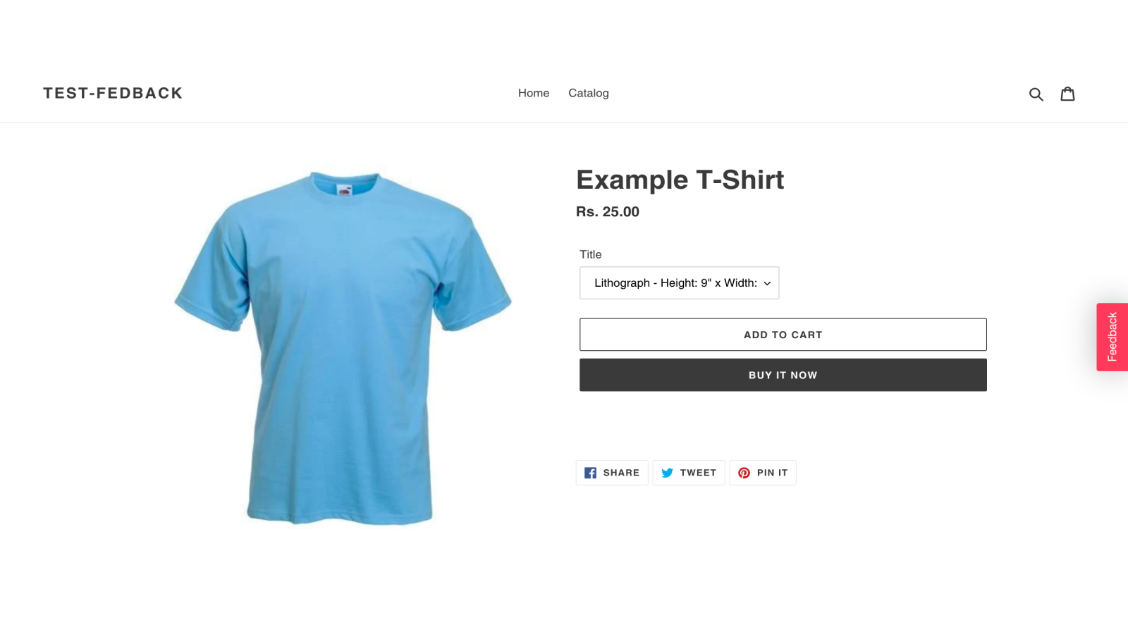 Add feedback button to your store