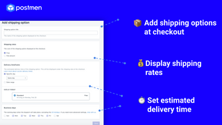 Add Shipping Options at Checkout Page