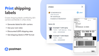 Create shipping labels certified by 60+ carriers