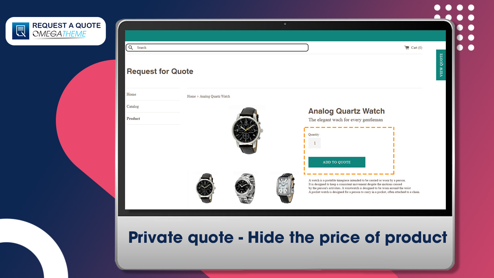 Request a quote by omegapps