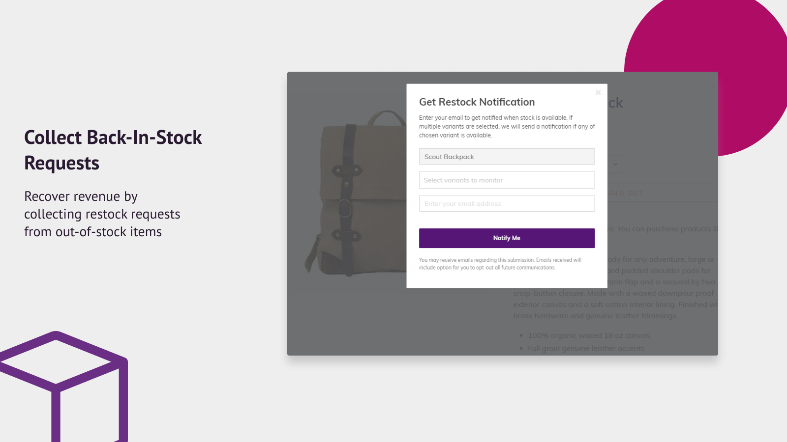 Collect Back-In-Stock Requests