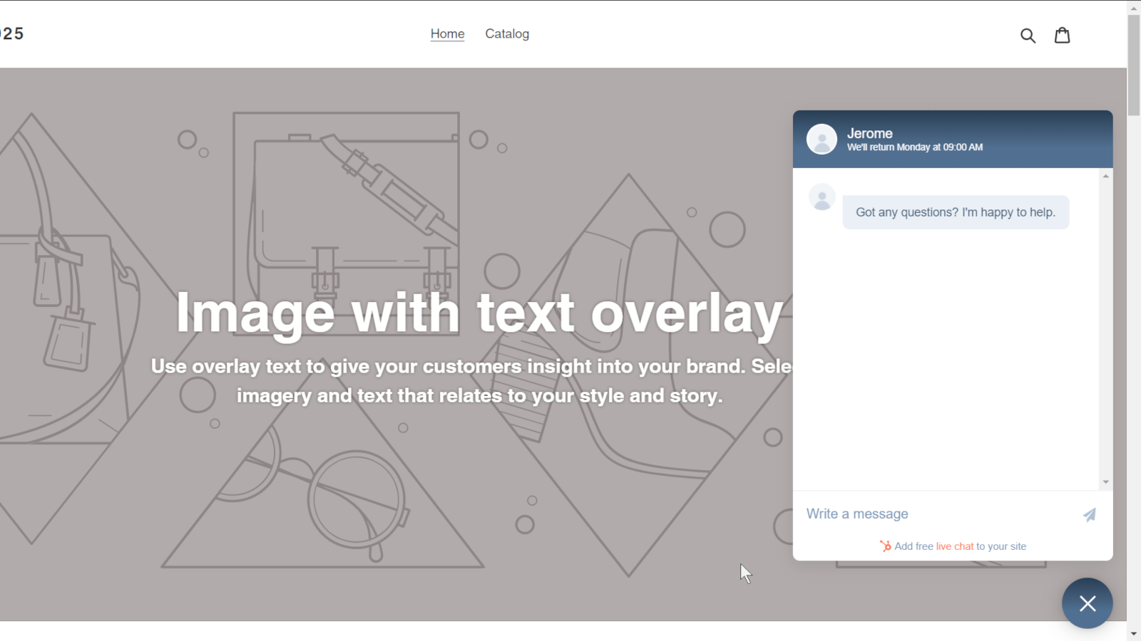Hubspot, Easy Chat Widget Install for Shopify