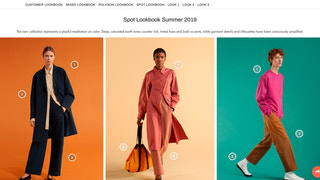 Lookbook on storefront with 3 columns grid