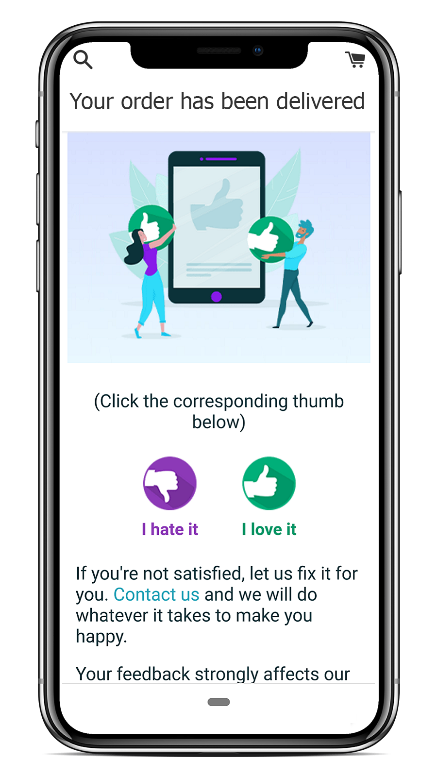 mobile feedback request for reviews