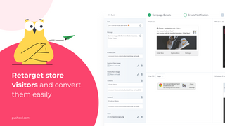 PushOwl retargets store visitors and converts them easily