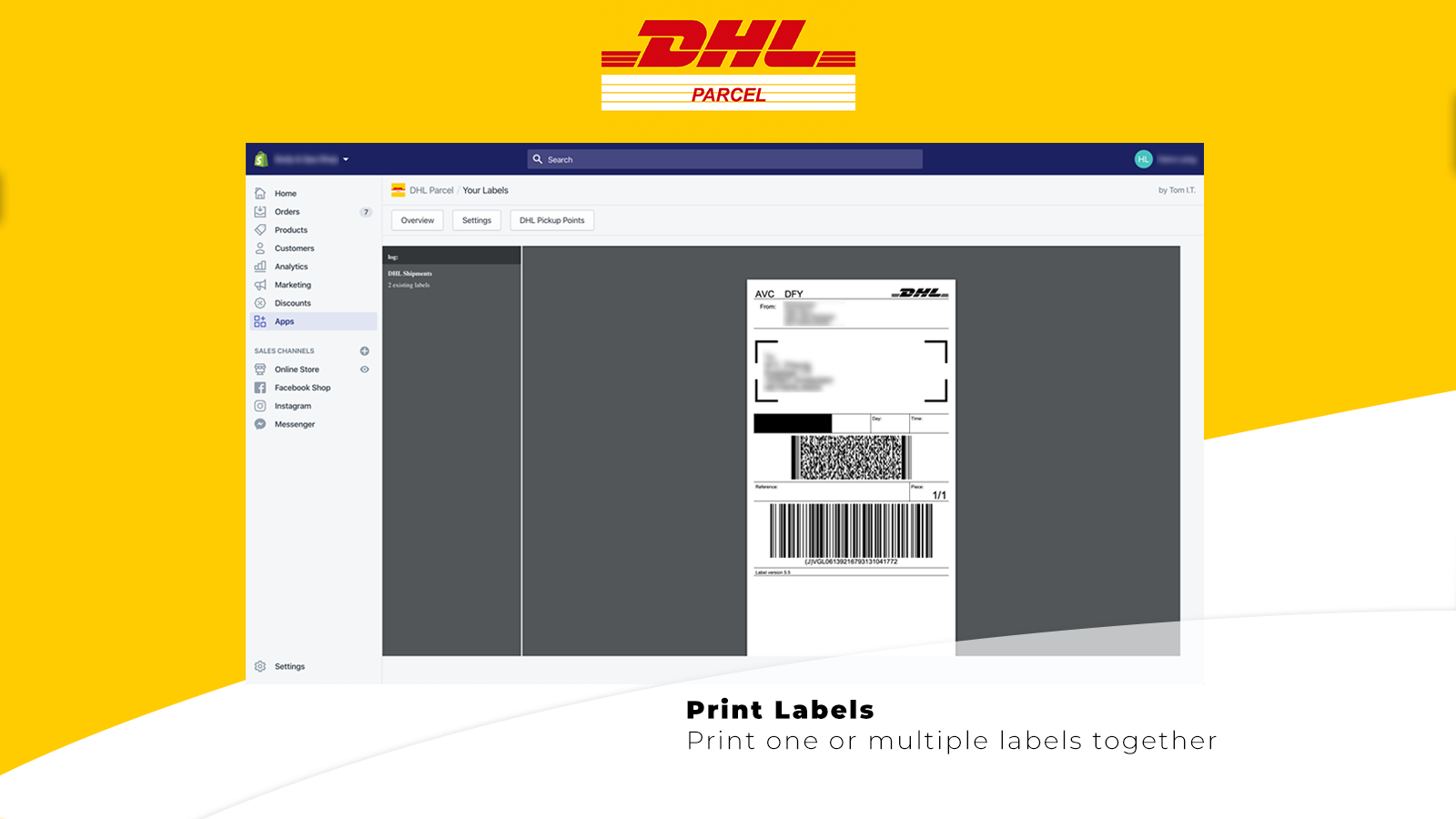 Create one or multiple labels together
