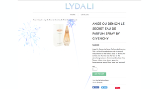 Firework effect on product pages