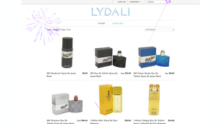 Firework effect on home page