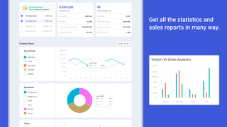 Get all the statistics and sales reports in many way.