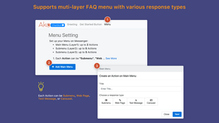 Support multi-layer FAQ menu with various response types