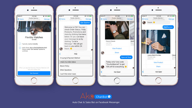 Auto chat and sales bot on Facebook Messenger