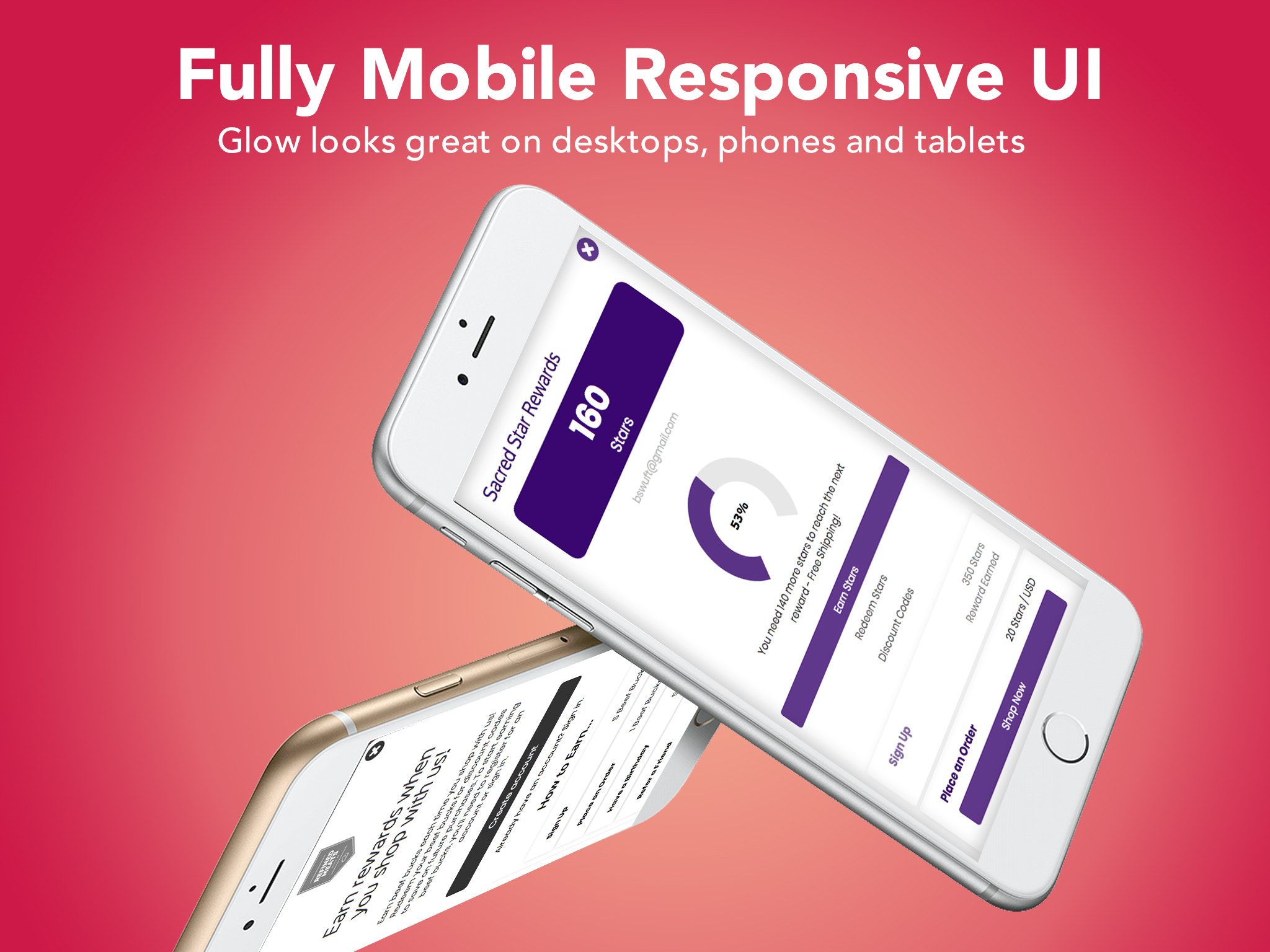 Fully Mobile Responsive User Interface