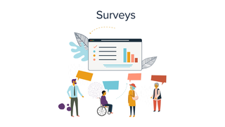 Use surveys to get feedback or ask about product preferences