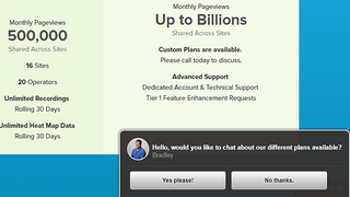 Chat invitations can be auto-enabled to ask visitors to connect