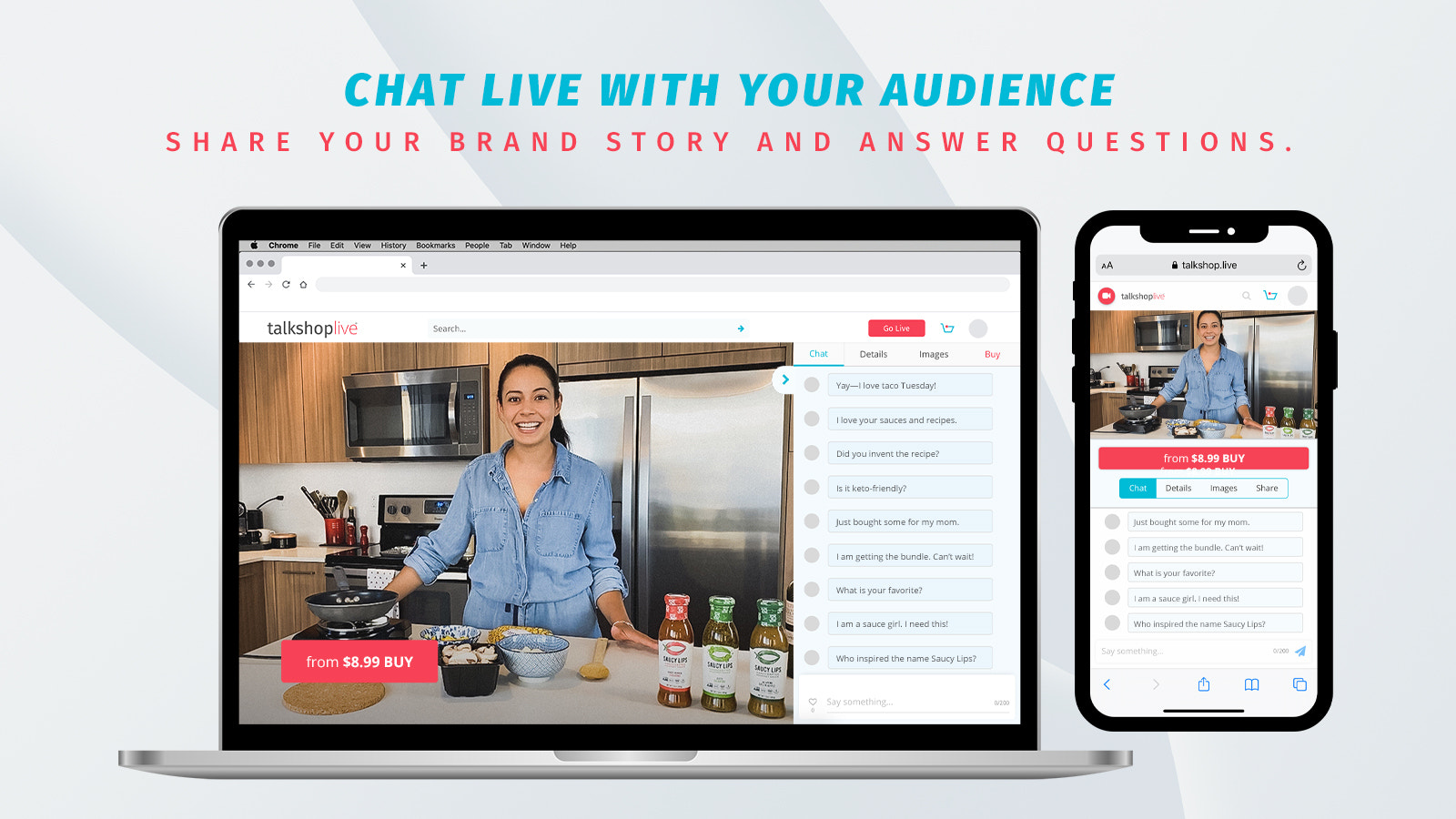 Chat live with your audience