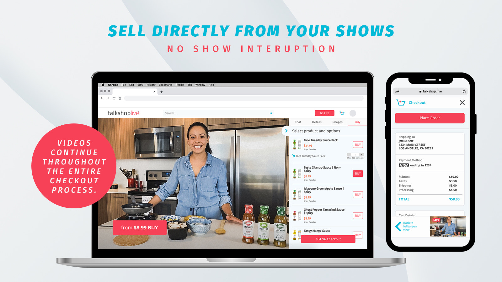 Sell directly from your shows