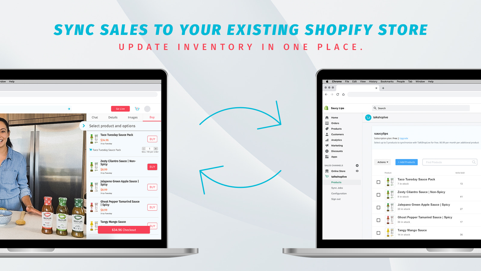 Sync sales to your existing Shopify store