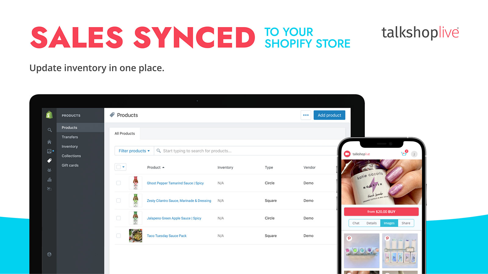 Sync products and sales