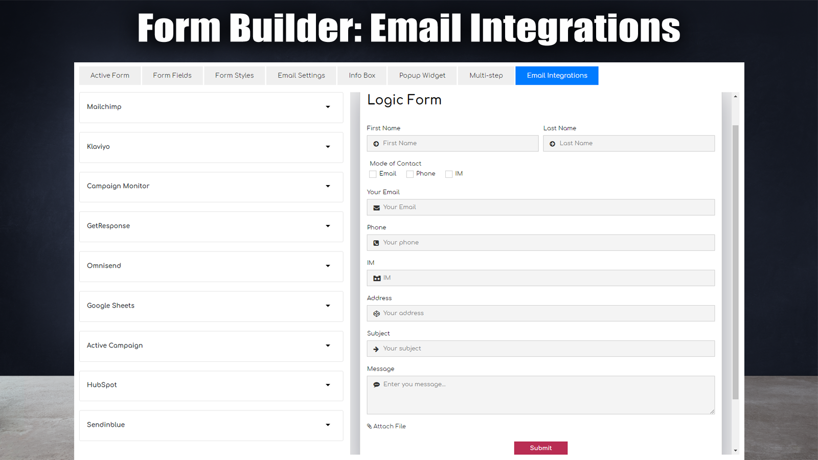 Contact Form Builder 06