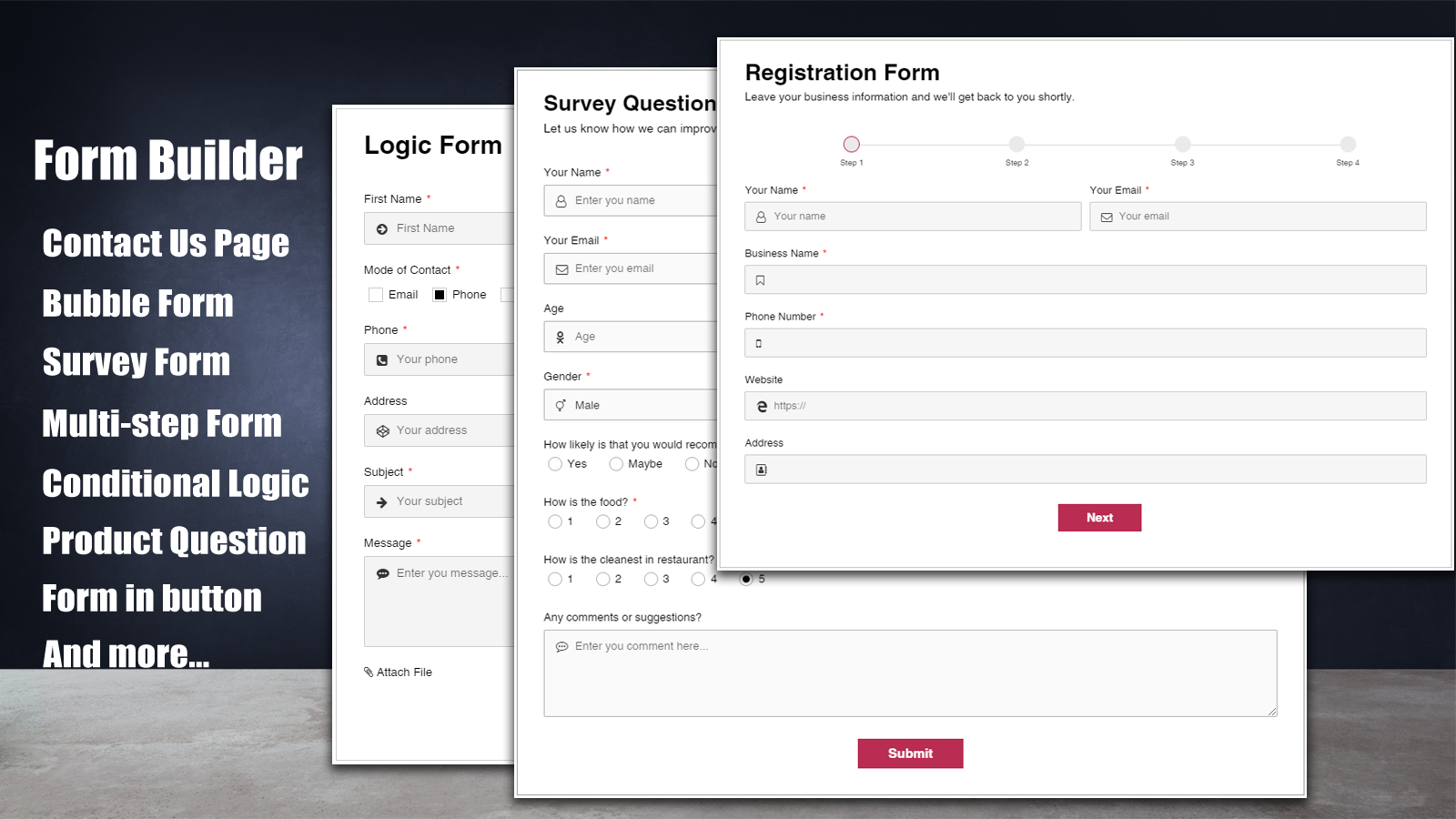 Contact Form Builder 03