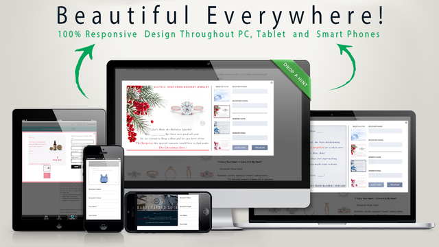 100% Responsive, our app is beautiful everywhere. PC, Tablets or