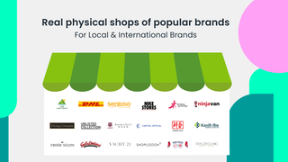 Real physical shops of popular brands