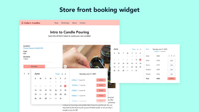 Customer Booking Experience - Choose Quantity