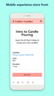 Mobile Customer Booking Experience - Choose Quantity