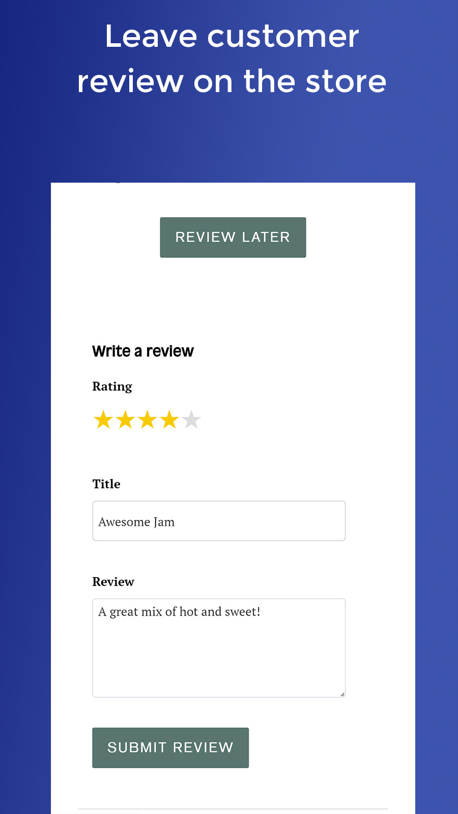 Collect Reviews from site directly