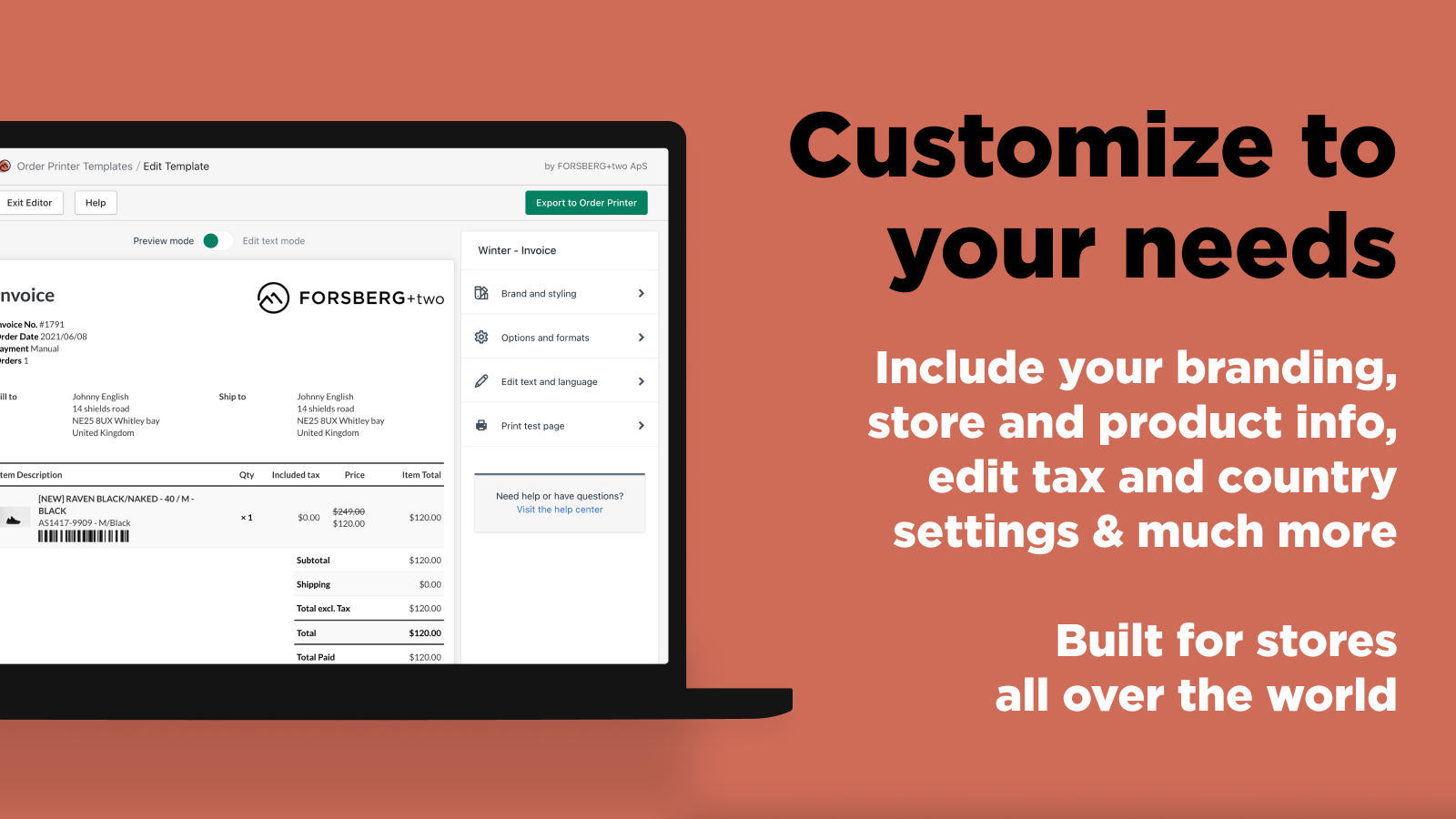 Shopify order printer: Customize to your needs