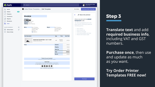 Shopify order printer translate