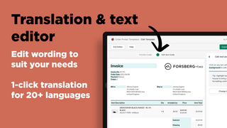 Shopify order printer: Edit wording and translate easily