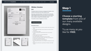 Shopify order printer invoice template