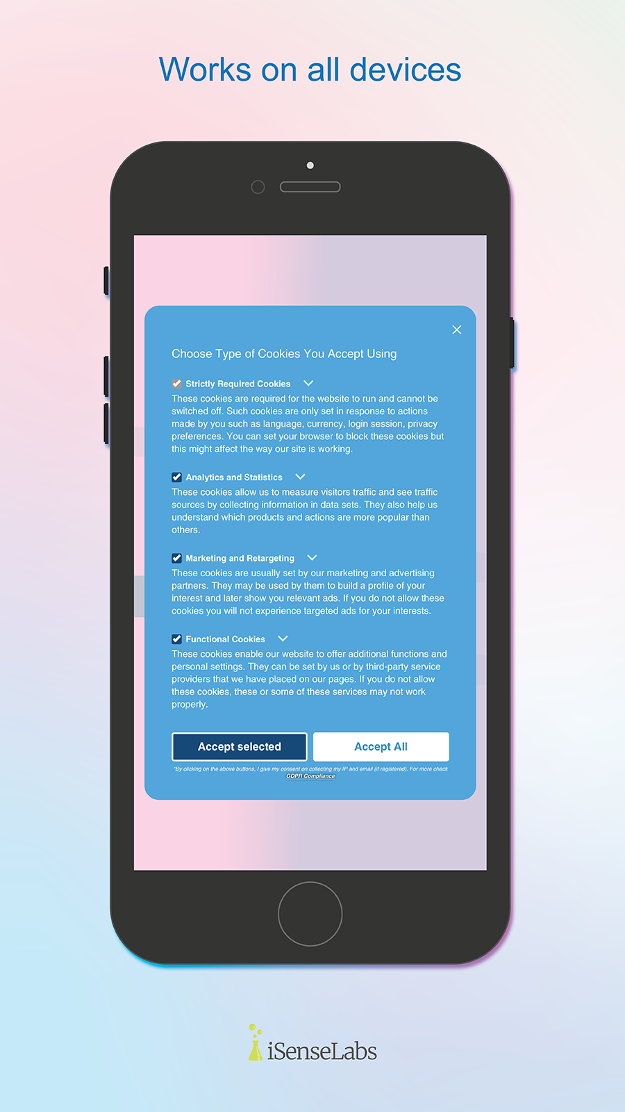 GDPR/CCPA - Works on all devices