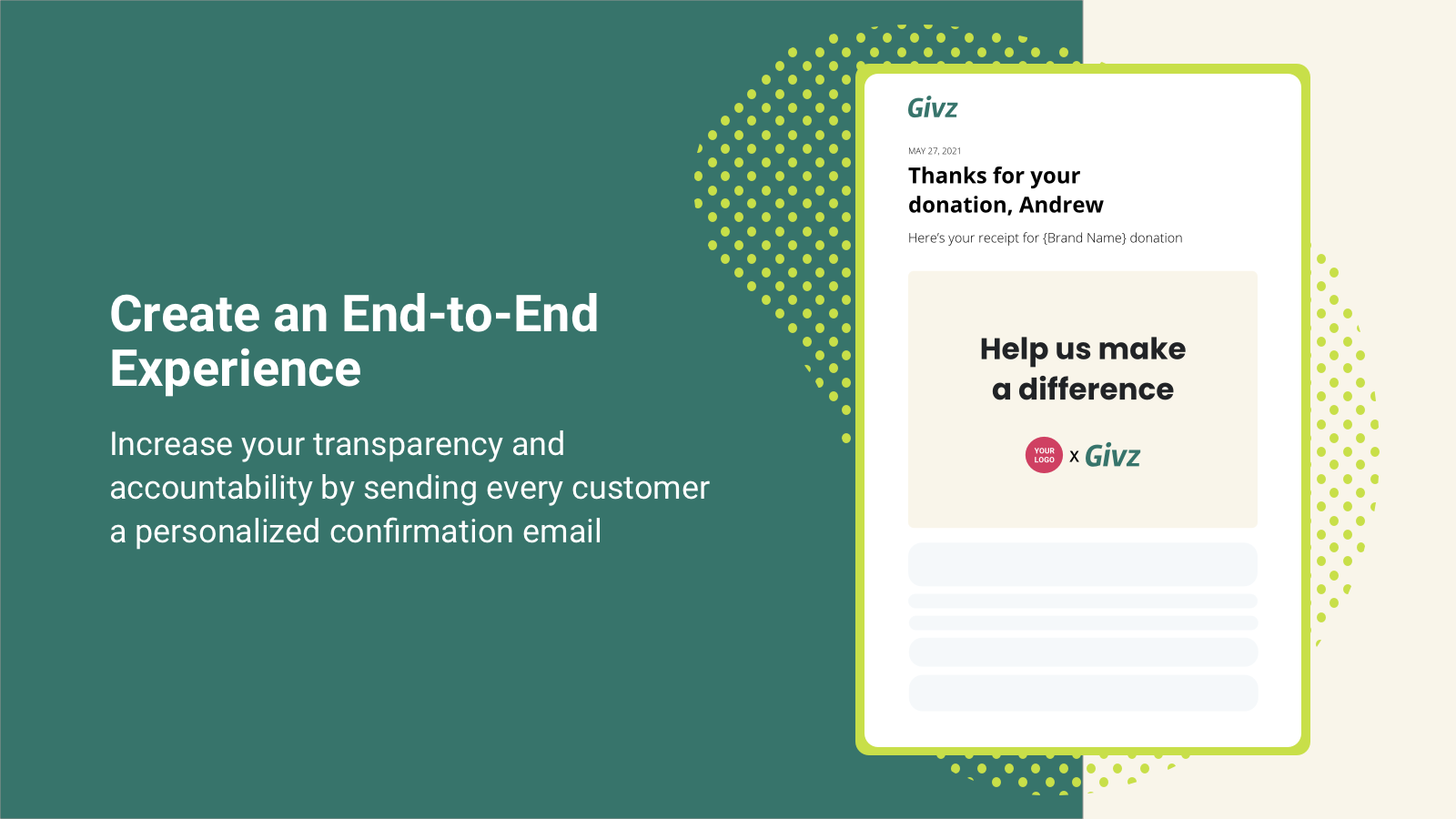 Get more trust by sending email receipt of donations to shoppers