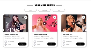Showcase and Create Events for your audience