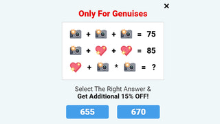 Gamification popup quiz to get more emails and sales