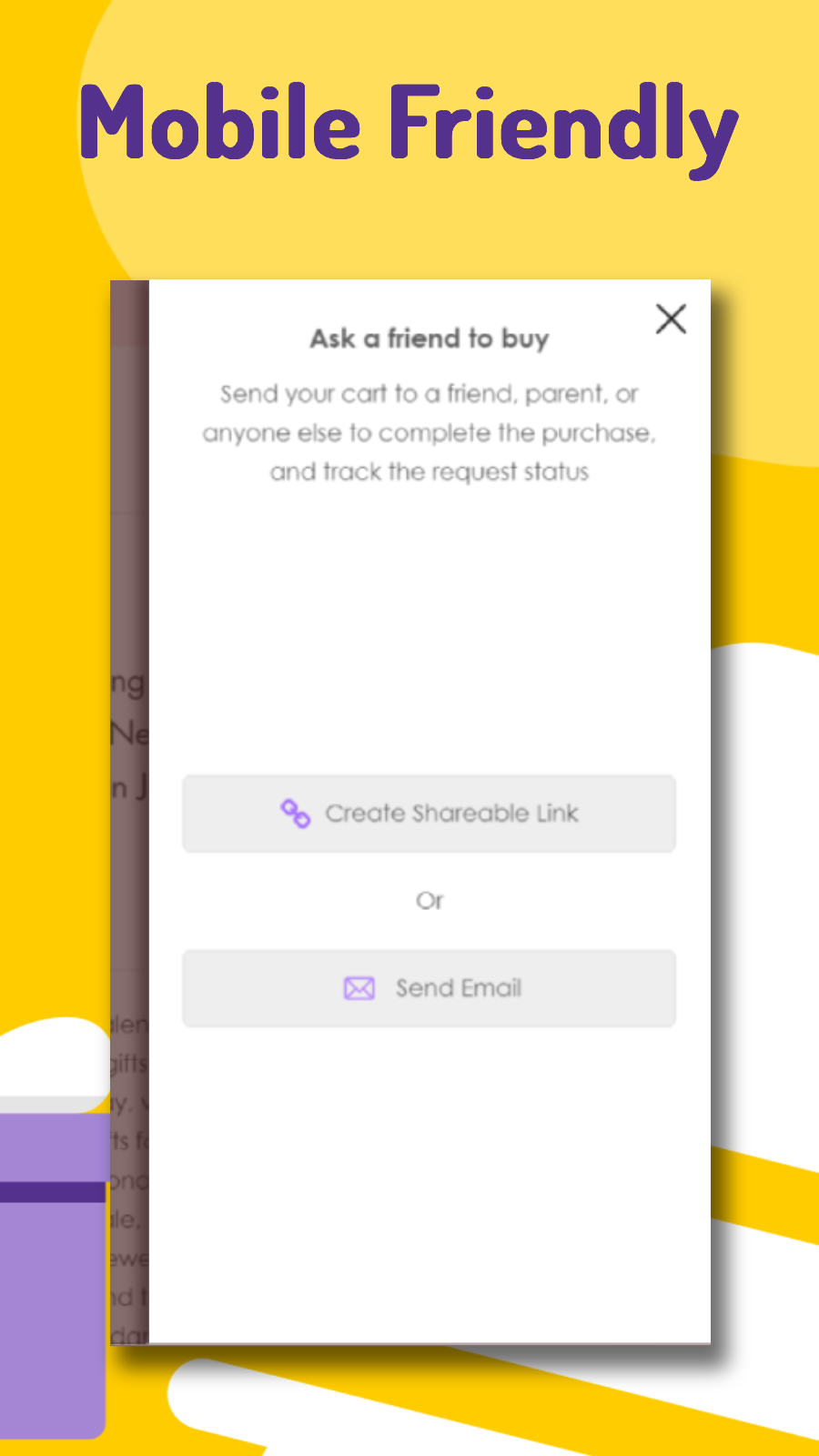 The entire flow is accessible for your mobile visitors