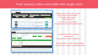 Fulfill orders with single click