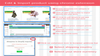 Edit and Import products using chrome extension