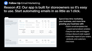 Email marketing built for storeowners so it's easy to use