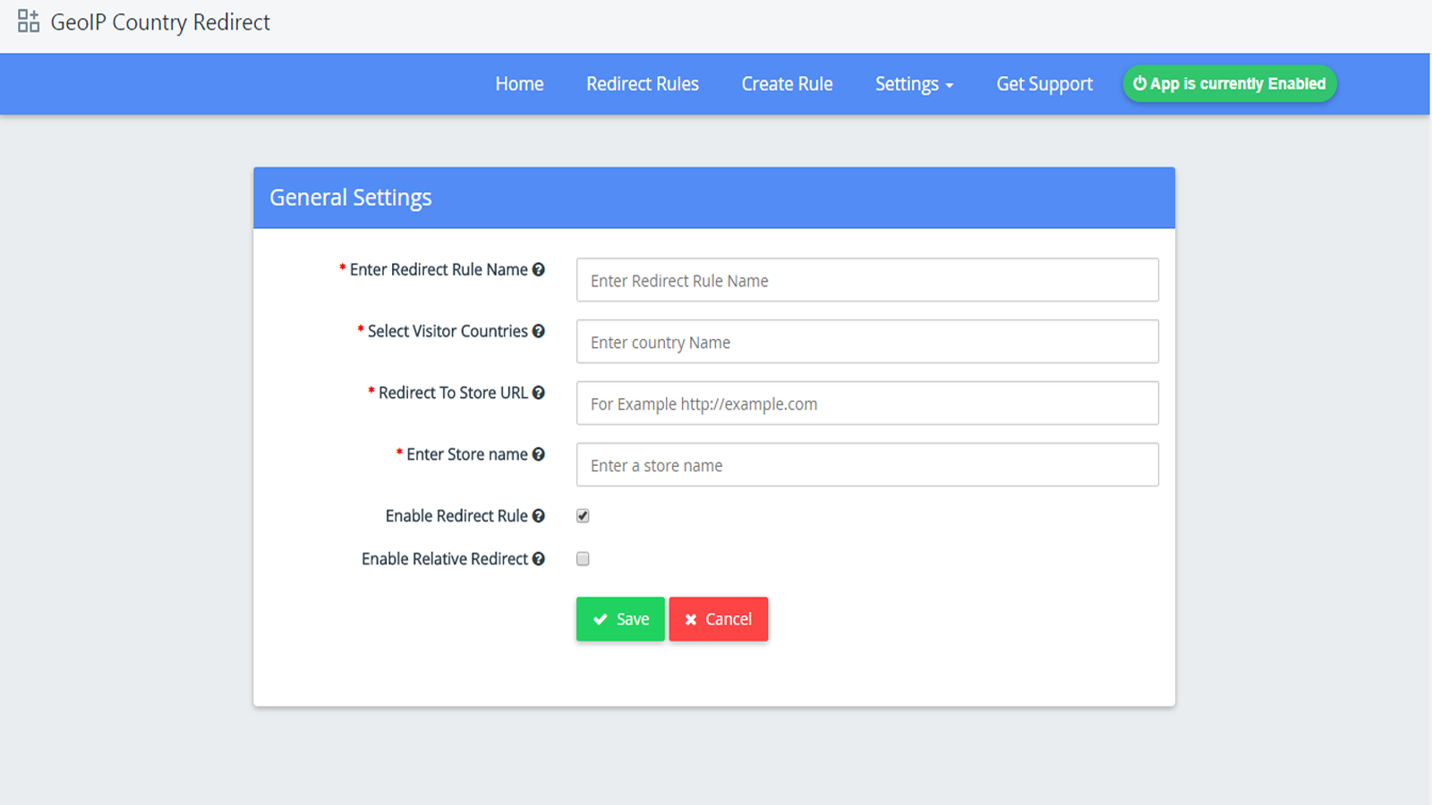 Create Redirect Rules - Shopify