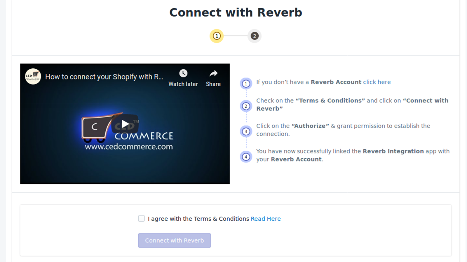 Connect your store with Reverb Marketplace, Shopify Plus